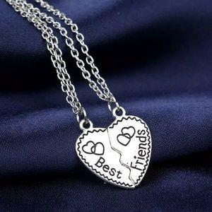 Jewelry - 2pcs Heart Puzzle Best Friends Necklace